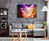"Image of Music Canvas Wall Decor: ""With the Right Music You Either Forget Everything or Remember Everything"" VERSION TWO"