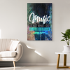 "Image of Canvas Wall Decor: ""Music Is Not What I Do It's Who I Am"""