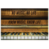 "Image of Music Canvas Wall Art: ""No Music No Life Know Music Know Life"""