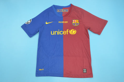 09 Barcelona Retro Champions League Jersey