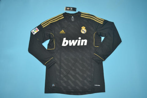 2011-2012 Real Madrid Long Sleeve Retro Away Jersey