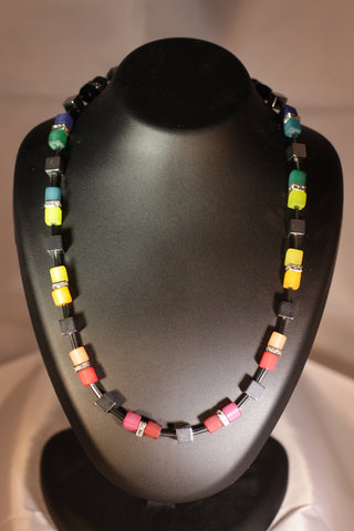 Rainbow (Necklace and Earrings)