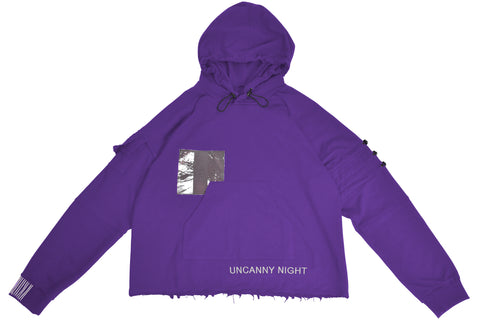 Uncanny Night Hoodie - Purple FRAYED