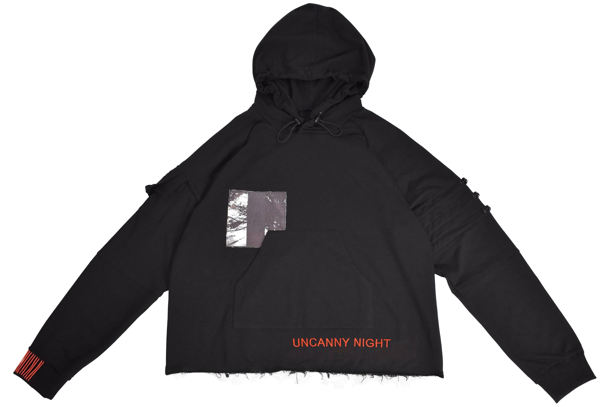 Uncanny Night Hoodie - Black FRAYED