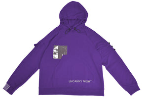 Uncanny Night Hoodie - Purple RIBBED