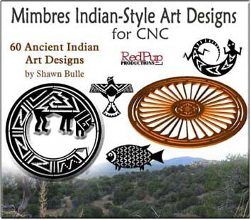 Mimbres Indian Designs - Dxf Files