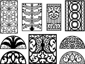 Decorative Ironwork Designs - Dxf Files