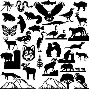 Nature and Wildlife Designs - Dxf Files