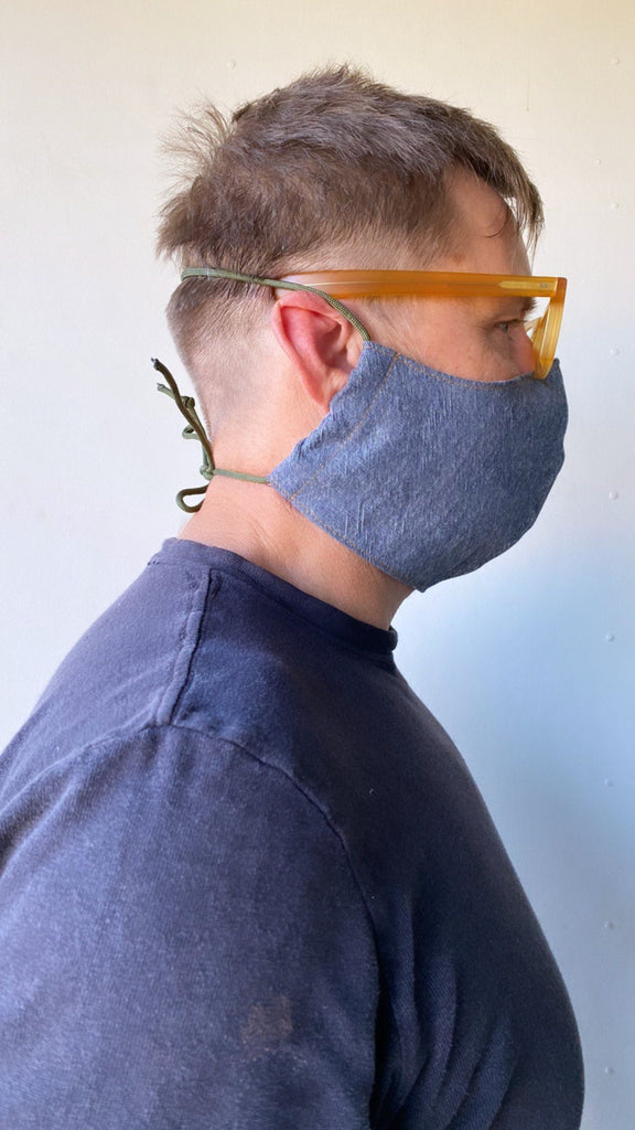 XL Adult Size Denim Fabric Face Mask