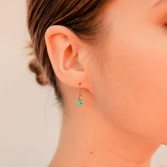Delicate Earrings in Turquoise