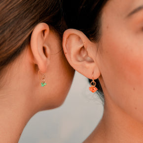 Delicate Shell Earrings in Orange