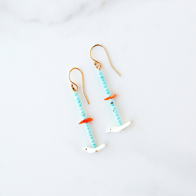 Shell & Turquoise Earrings