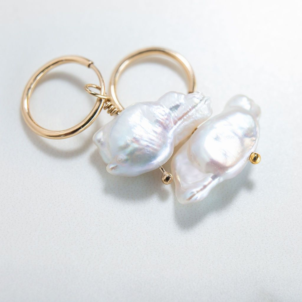 Freshwater Pearl Cloud Earrings