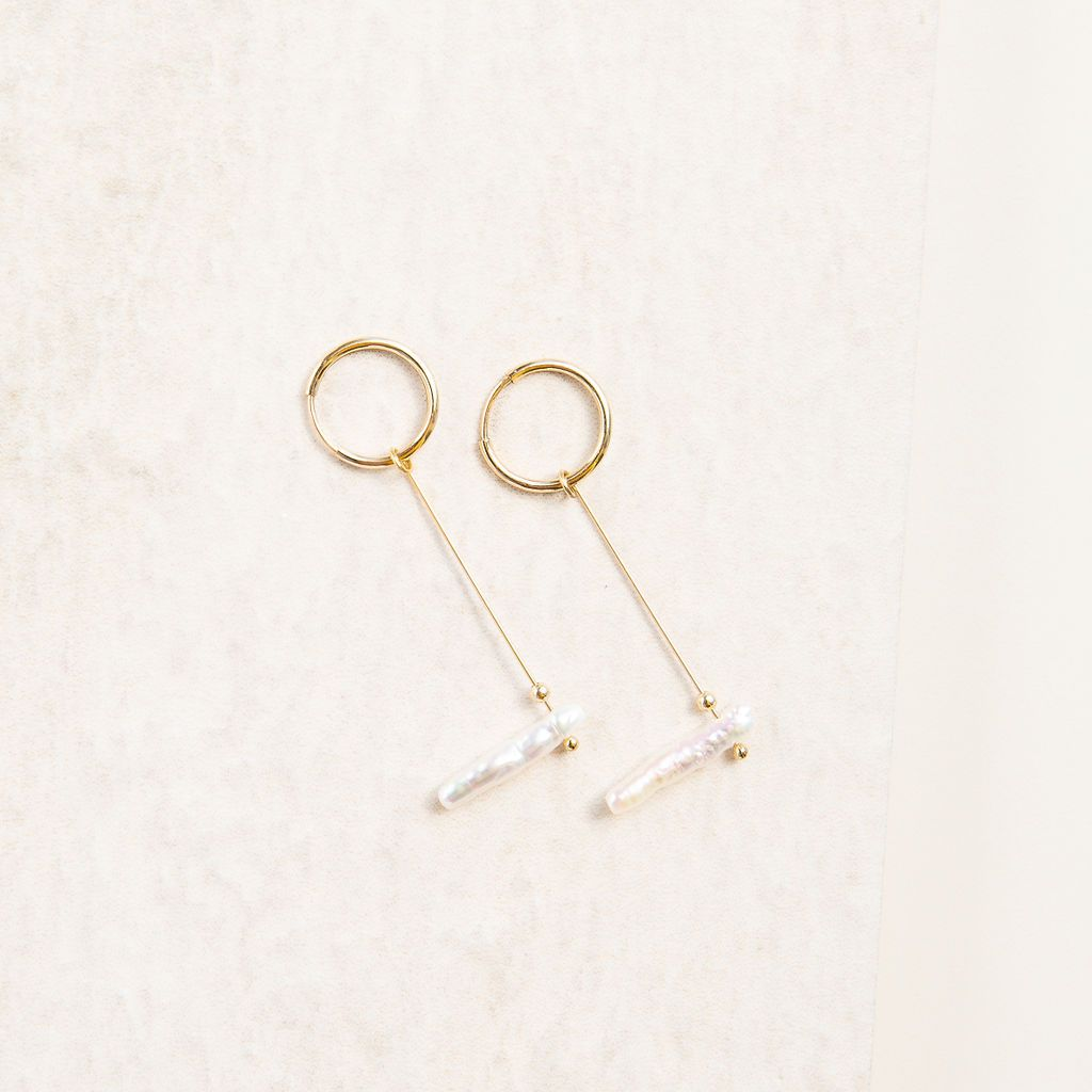 Minimalist Freshwater Pearl Earrings