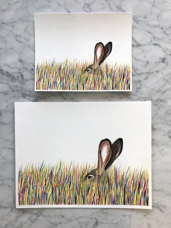 "Lagomorph by Carrie Marill 11""x14"""