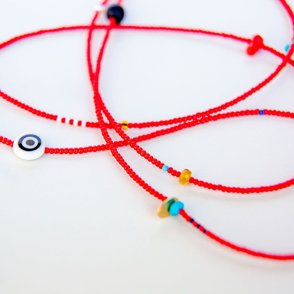 Protective Evil Eye Micro Seed Bead Necklace
