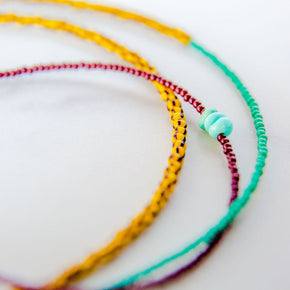 African Glass Seed Bead Necklace