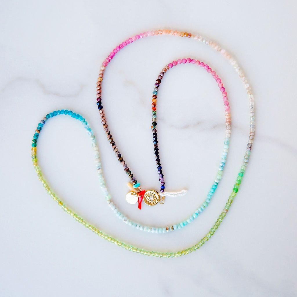 "35"" Ombre Rainbow Agate Necklace"