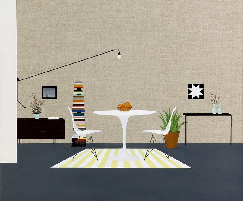 "Modern Interior by Carrie Marill 11""x14"""