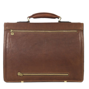 Classic Brown Briefcase