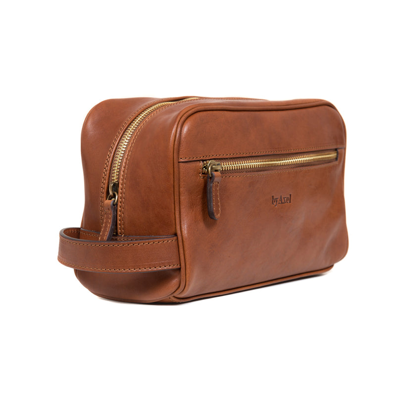 Brown Toilet Bag