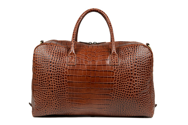 Travel Bag Croc Brun