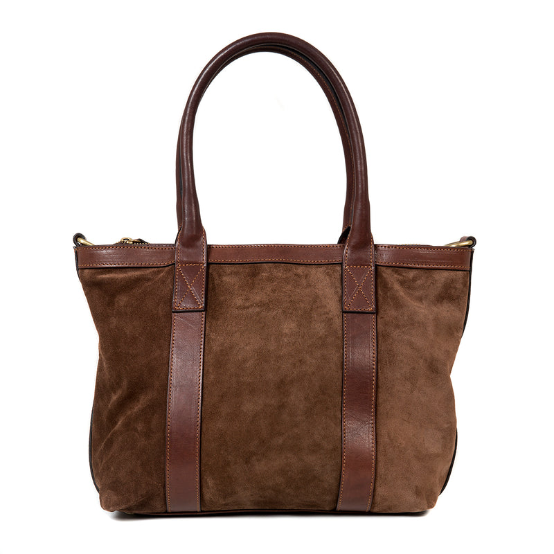 Mini Tote Suede Chocolate