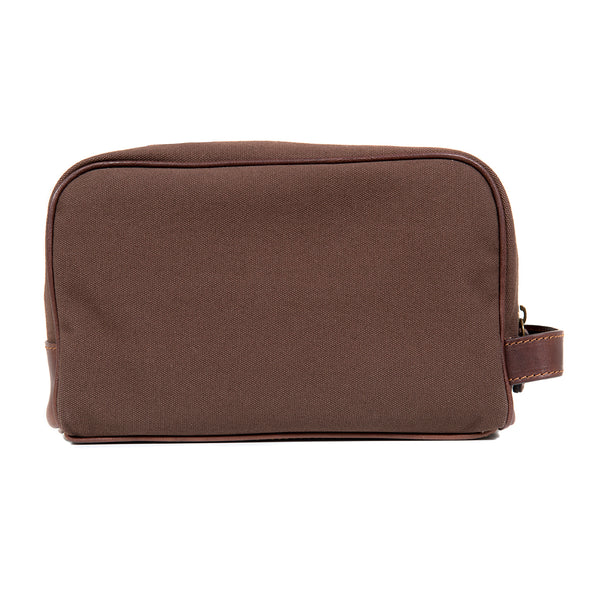 Brown Canvas Toilet Bag