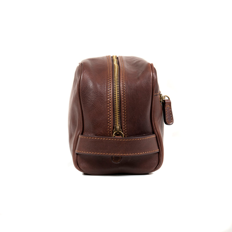 Dark Brown Toilet Bag