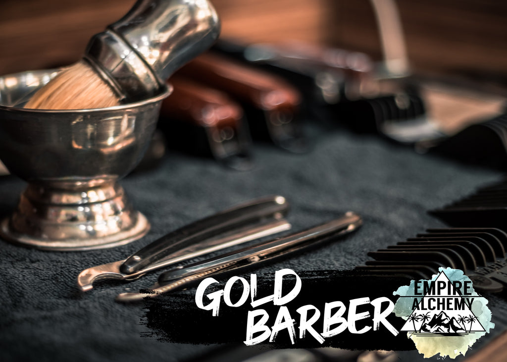 Gold Barber Scented Wax Ready-To-Ship Choose Size