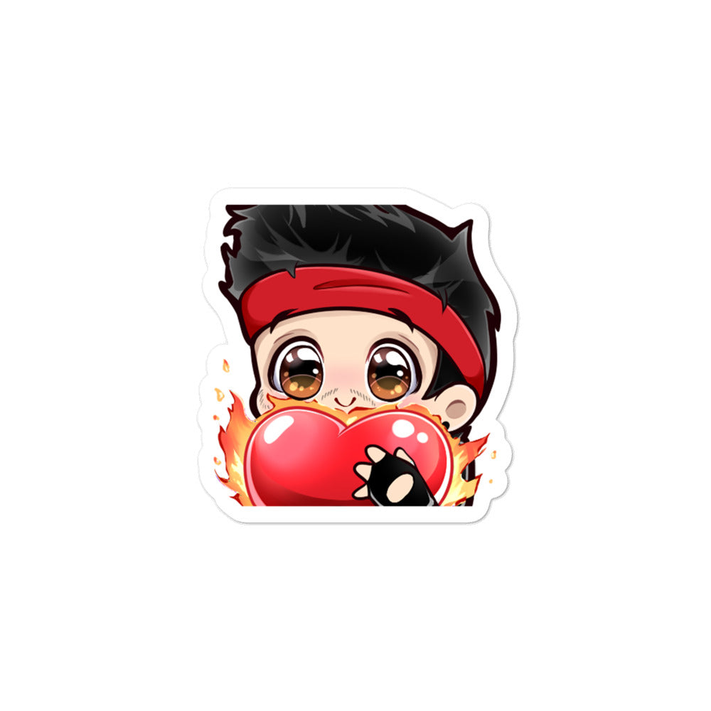 Action Squad Kiss Cut Sticker - Heart Emoji