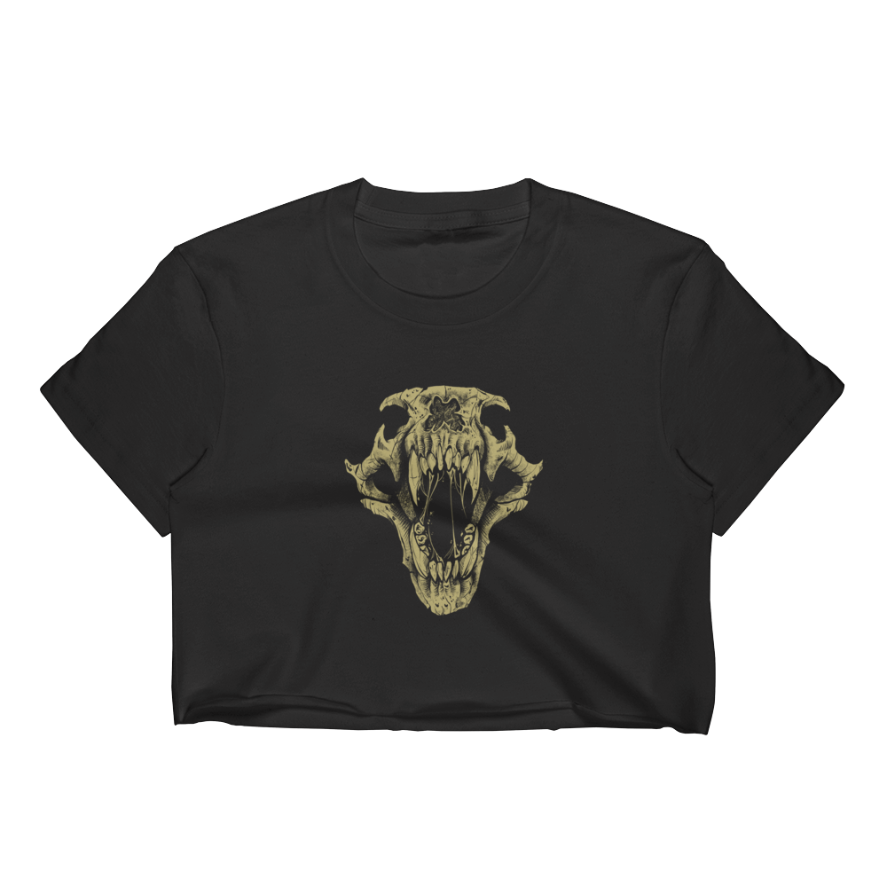 BigE Skull Illustration Crop Top