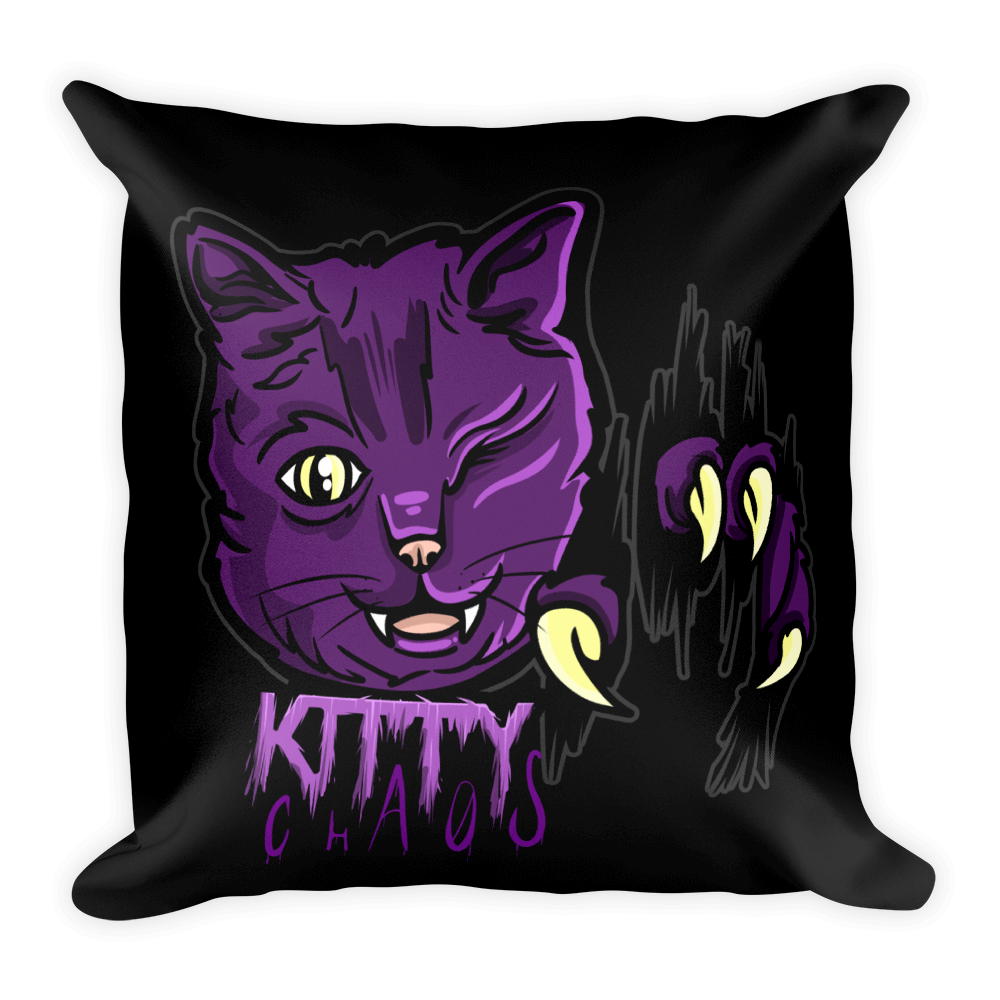 KittyChaos Logo Square Pillow