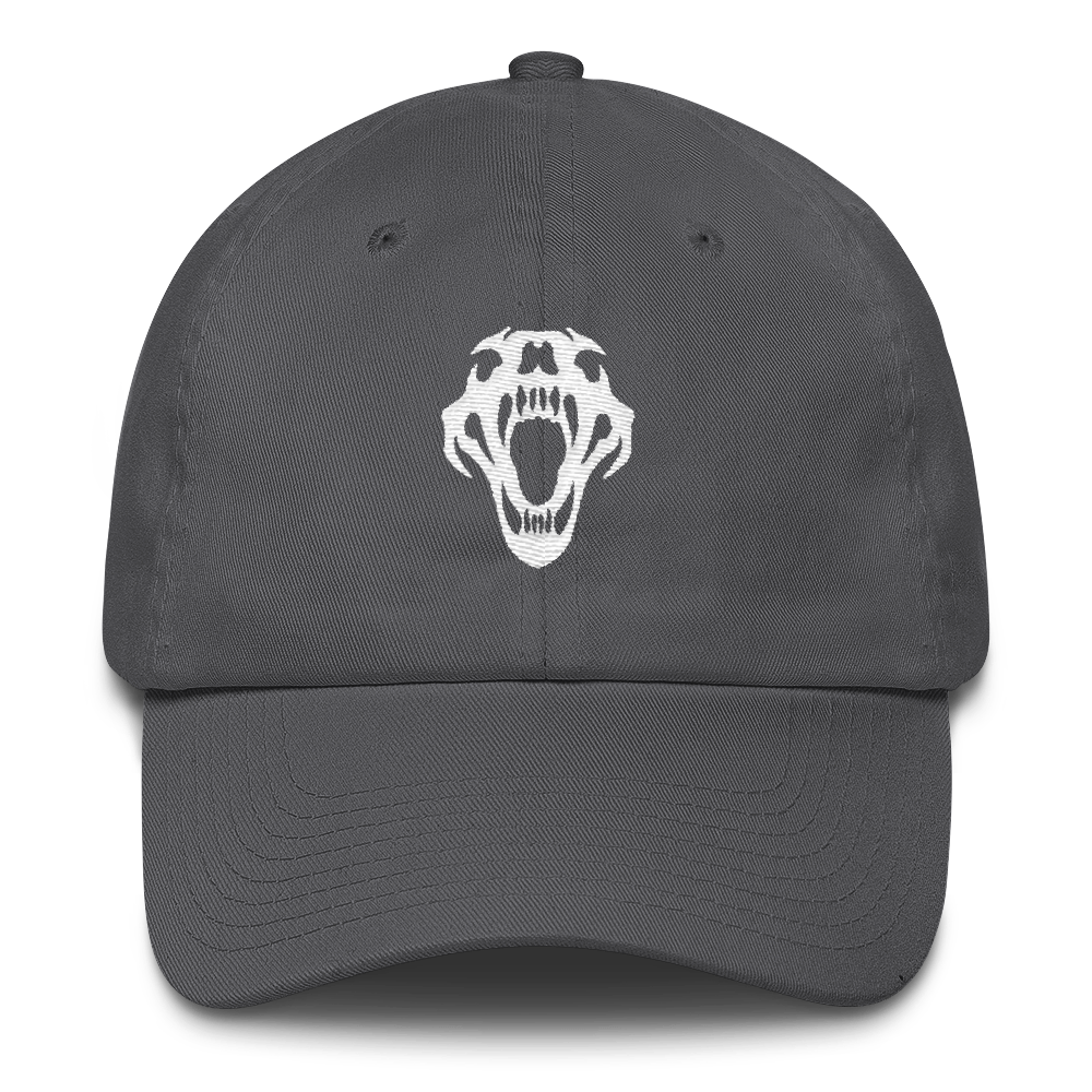 BigE White Skull Dad Hat