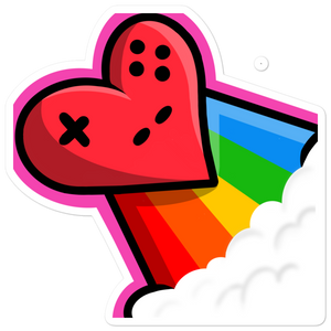 Flying Heart Sticker - heartsandcotrollers