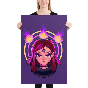 Reodora Poster - Purple by Aiden