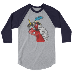 Pirate Unicorn Baseball Tee