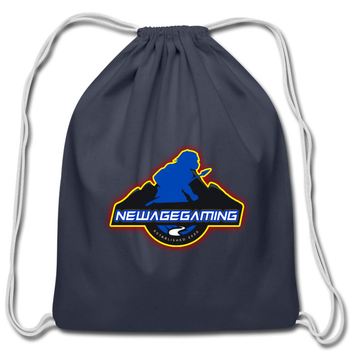 New Age Gaming Cotton Drawstring Bag - navy