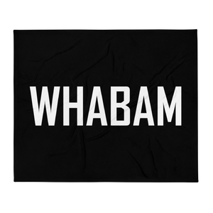 WHABAM Throw Blanket