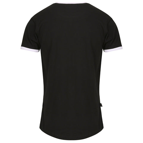 Atlanta Curved Hem Ringer Black/White