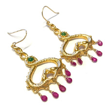 Snake chandelier earrings