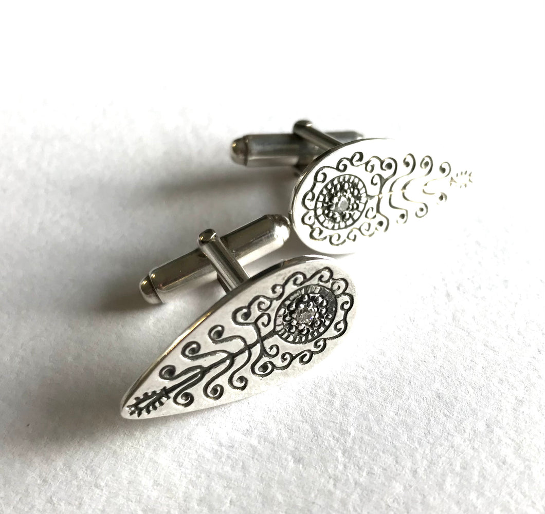 Mehndi Cuff links