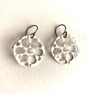 Lotus roots large earrings in Sterling Silver