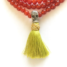 Mala necklace with skull Guru bead and tassel