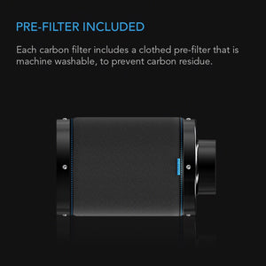 "AC Infinity Climate Control AC Infinity Duct Carbon Filter 4 - Charcoal Carbon Filter for 4"" Duct Fan"