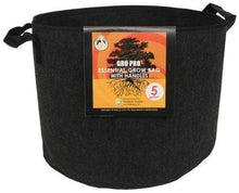 Load image into Gallery viewer, Go Pro Soils & Containers Gro Pro Essential Round Black Fabric Pot with Handles