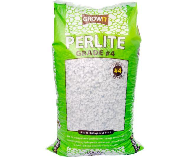 GROW!T Soils & Containers 4 Cubic Feet Bag GROW!T #4 Perlite, Super Coarse, 4 Cubic Feet