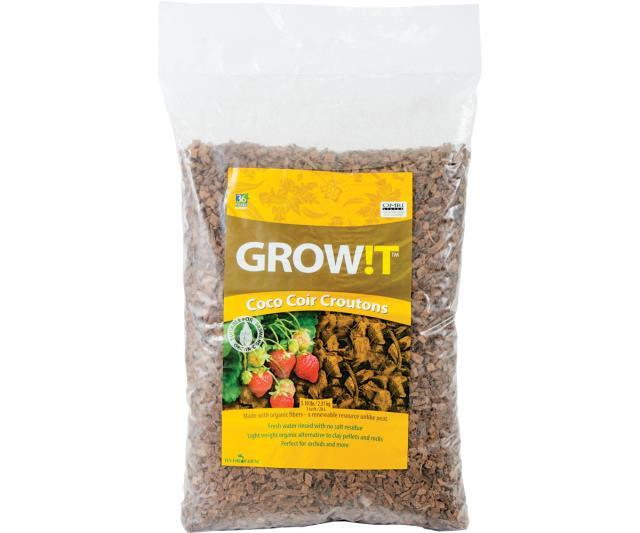 GROW!T Soils & Containers GROW!T Coco Croutons, 28 L bag