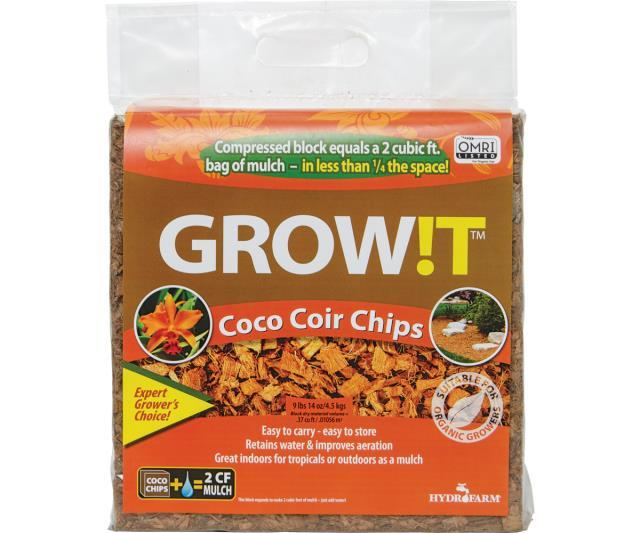 GROW!T Soils & Containers GROW!T Organic Coco Coir Planting Chips, Block