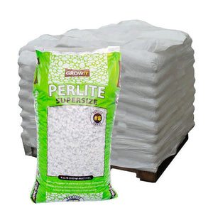 GROW!T Soils & Containers Pallet of 30 Bags - 4 Cubic Feet Bag GROW!T #8 Perlite, Super Coarse, 4 Cubic Feet